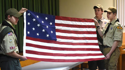 Owners of Terra Rubra, birthplace of Francis Scott Key, receive Star Spangled flag