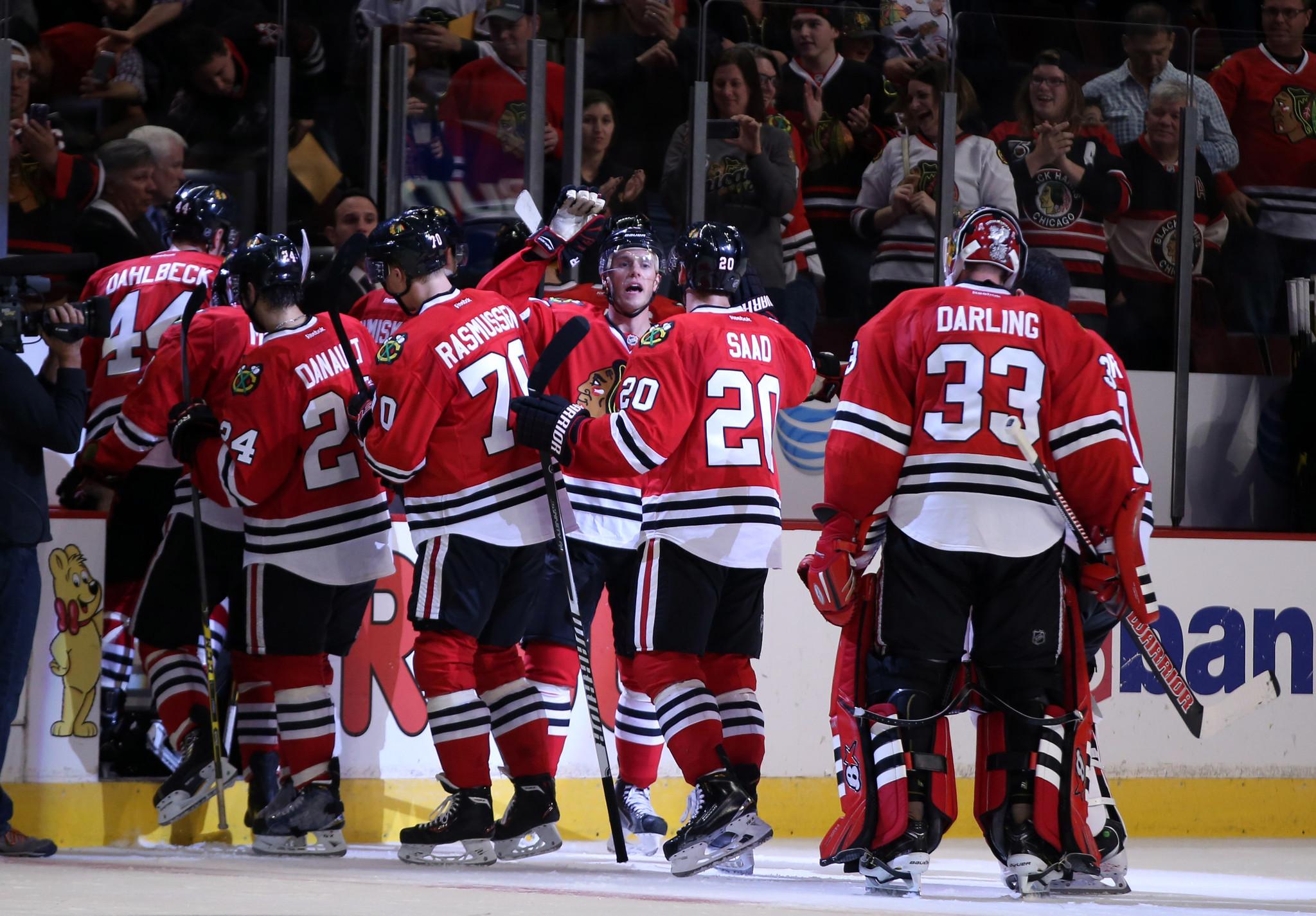Blackhawks top Red Wings 2-1 in OT in exhibition opener