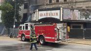 Two-alarm blaze near Mayfair Theatre halts light rail