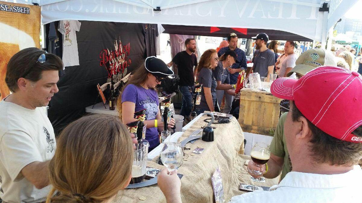 Heavy Seas Brewmaster Christopher Leonard (left) and brewer Courtney Lacy were on hand for the recent Maryland Brewers' Harvest event, where Plank III was named best Maryland beer of the year.