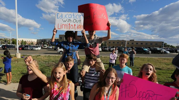 Colorado school protest