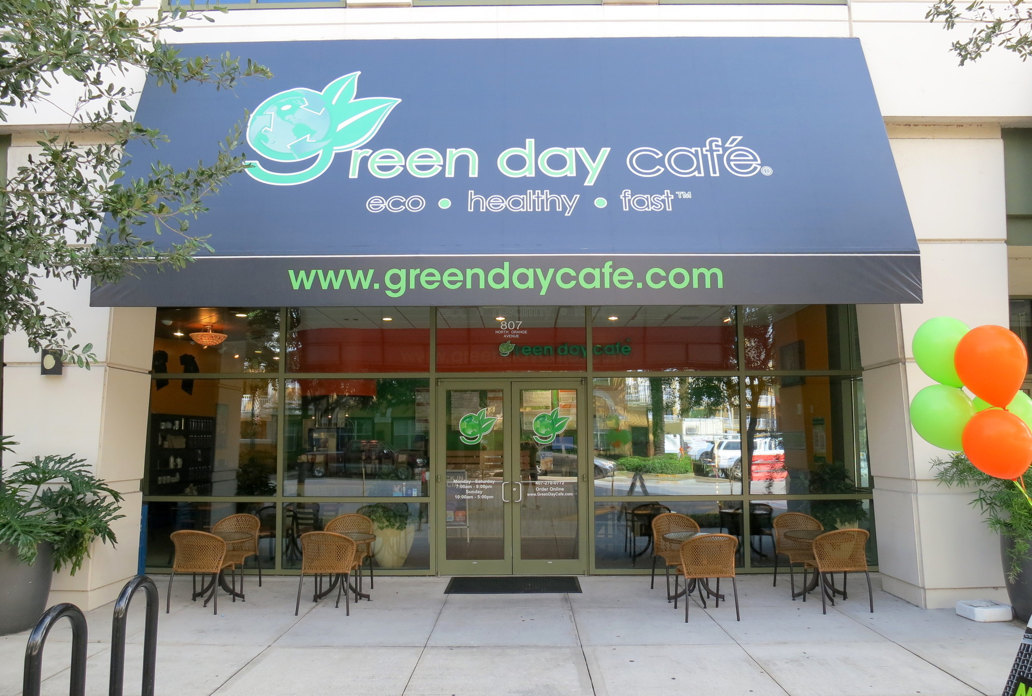 green day cafe opening in downtown orlando monday sept 22