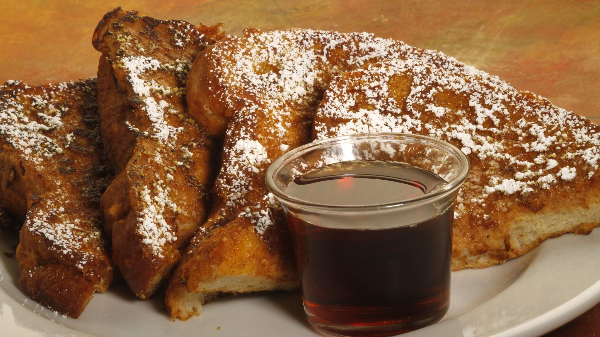 Pumpkin-spiced French toast