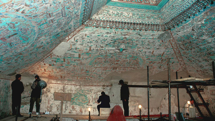 Mogao Grottoes in Dunhuang, China