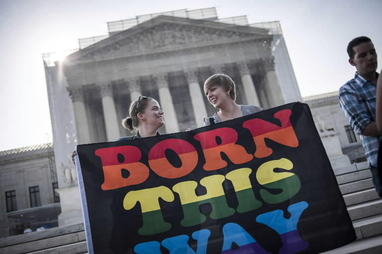 Activists speak out ahead of the U.S. Supreme Court's June 2013 ruling against the Defense of Marriage Act. The court could take up another same-sex marriage case on Monday.