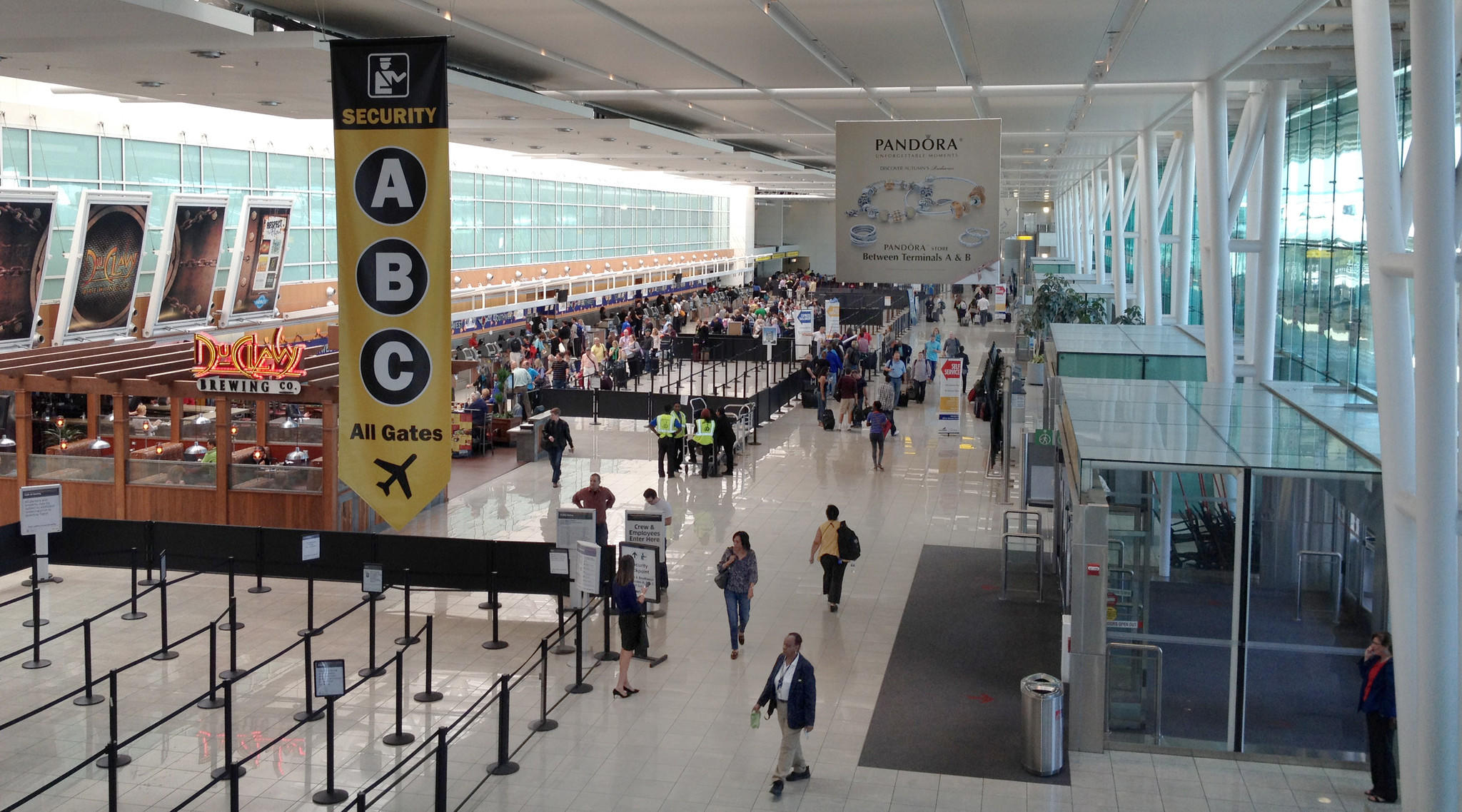 BWI's main terminal shows normal passenger traffic 11 a.m. Friday morning. Two flights to Chicago from BWI had been cancelled as of 11 a.m. A fire at a Chicago airport threatens to have a ripple effect on the rest of the country's travel schedule.