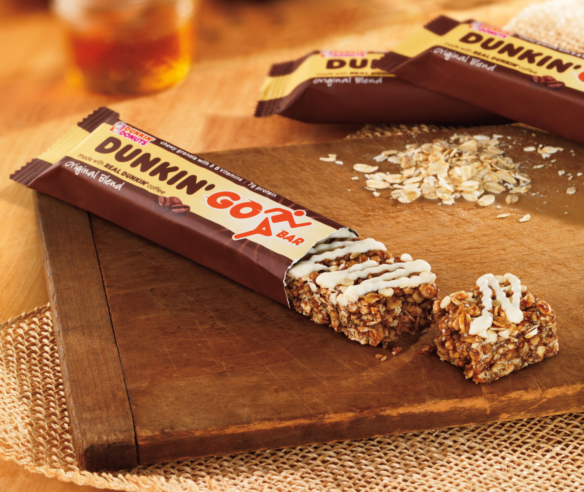 New granola bars at Dunkin' Donuts. And of course they're coffee-flavored