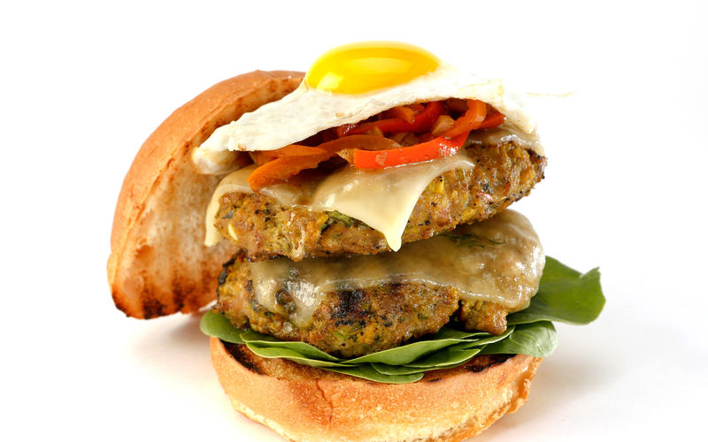 Green curry chicken burger (GCCB)