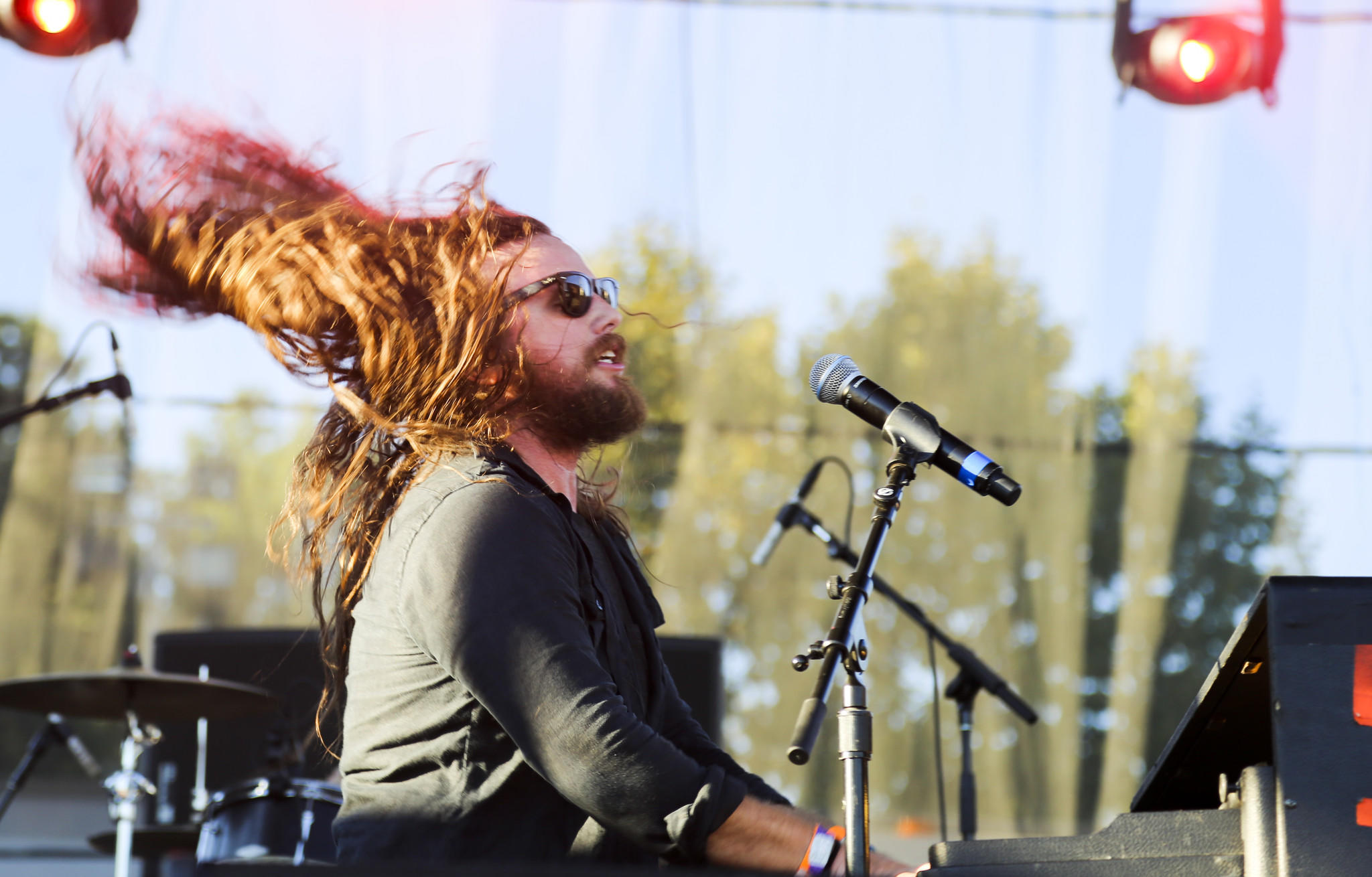Lead singer J. Roddy Walston of J. Roddy Walston and The Business performs at the Shindig Festival on Saturday.