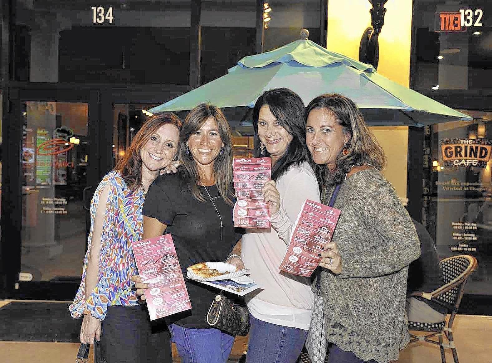 From left, Wendi Lipsich, Tara Gray, Trisha Shepard and Susan Petosa at Taste of Delray Marketplace last year.
