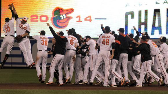 Orioles celebrate American League East title