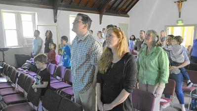 Sunday morning service is first in former St. Timothy's building