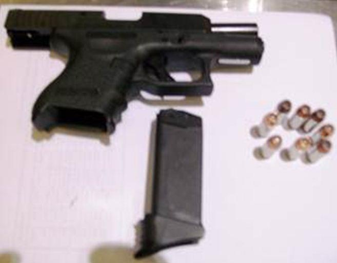 This .40 caliber semi-automatic handgun was detected in a traveler's carry-on bag at BWI Airport September 29. The man was arrested on a state weapons charge. (TSA photo)