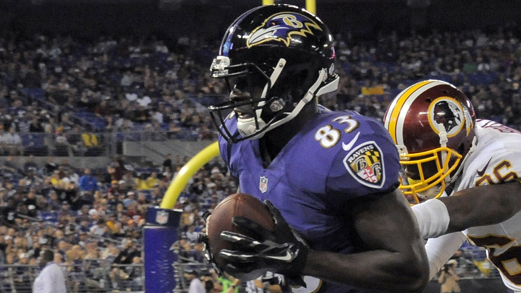 Ravens practice squad WR Deonte Thompson to imitate Colts standout