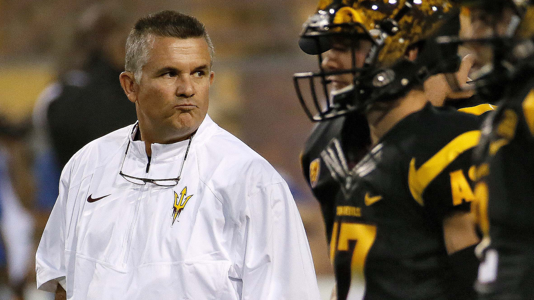 Arizona State Coach Todd Graham compliments USC players