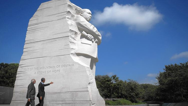 President Obama and Premier Narendra Modi at Martin Luther King Jr. memorial
