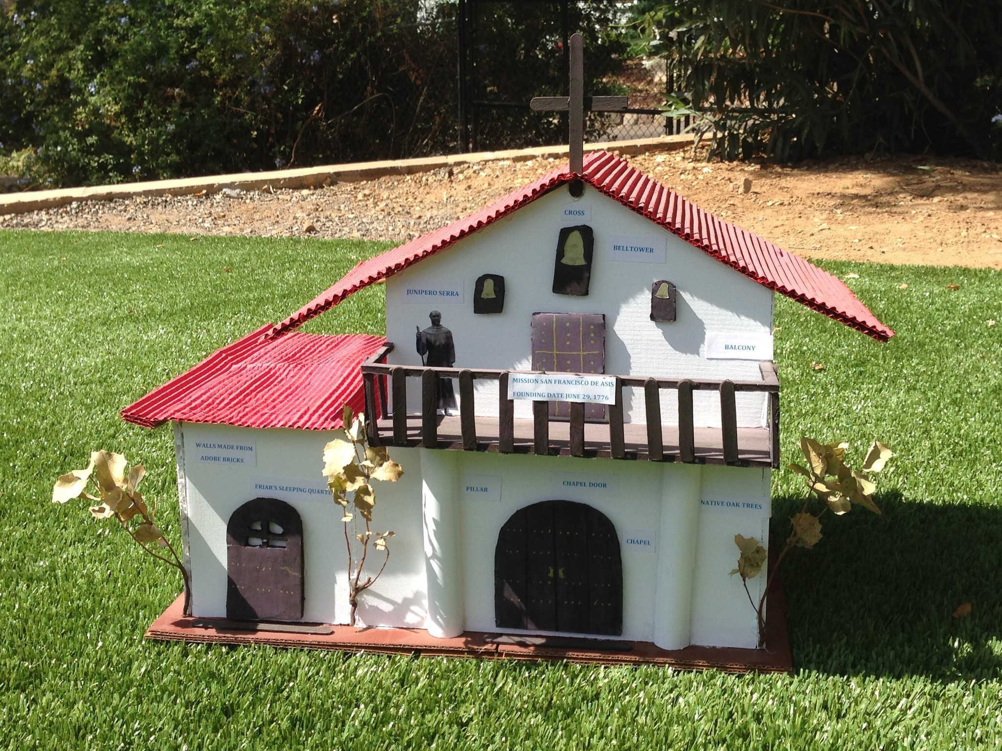 Readers california mission projects crafted from cake tiles