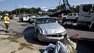 Video: Five-Car Crash