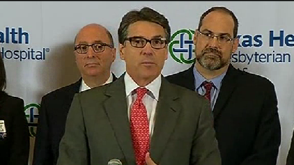 Perry says school-aged children had contact with Ebola patient [Video]