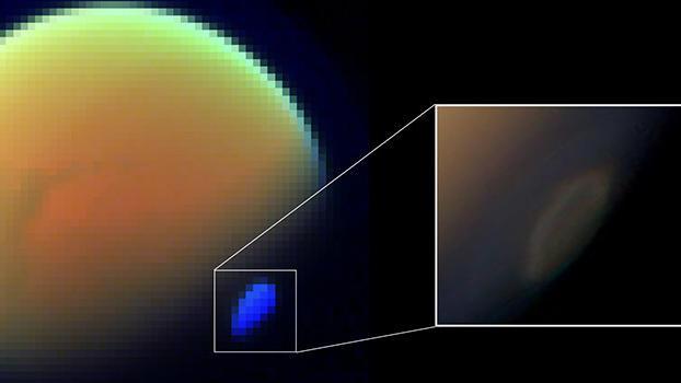 Cloud on Saturn's moon Titan