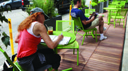 Colorful outdoor 'people spots' are good for Chicago business, council says