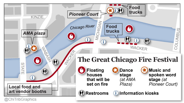 Map: Details on The Great Chicago Fire Festival