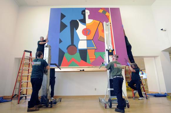 Abstract Murals At Home At Downtown Hartford Library Ctnow