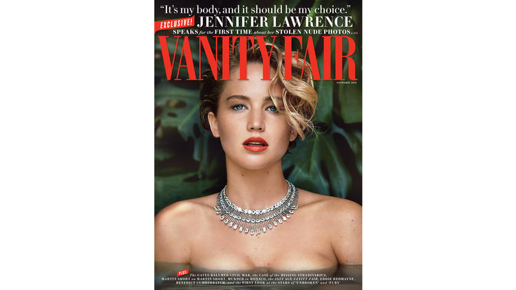 Jennifer Lawrence on Vanity Fair cover