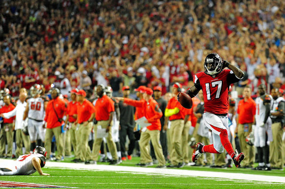 Devin Hester returns a punt for a touchdown against the Bucs (and Lovie Smith) to set the record.