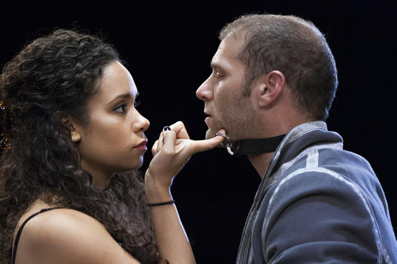 Kathryn Tkel and Elan Zafir in Rep Stage's production of 'Venus in Fur'