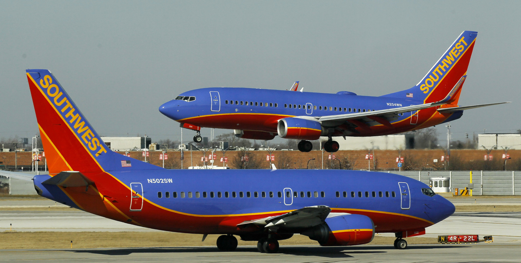 Southwest Airlines' on-time performance still lags