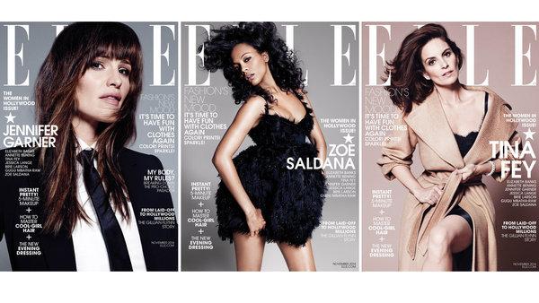 Jennifer Garner, Zoe Saldana, Tina Fey explain work ethic in Elle