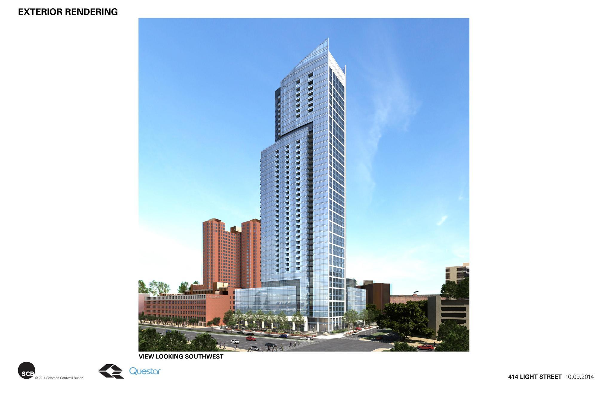 Bal New Inner Harbor Skyscraper Gets Design Ok 20141009_1_skyscraper Architecture Review Panel Design Ok on 500 Square Foot Studio Apartment