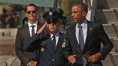 Obama lands at LAX; here's how to avoid dreaded motorcade