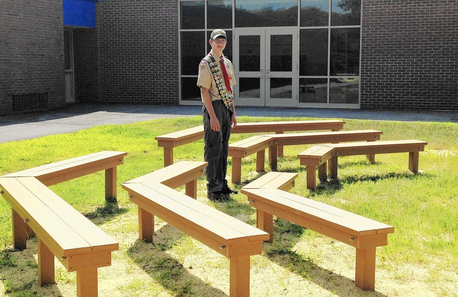 Outdoor Classroom Ideas Elementary School ~ Pasadena eagle scout helps bodkin elementary take the