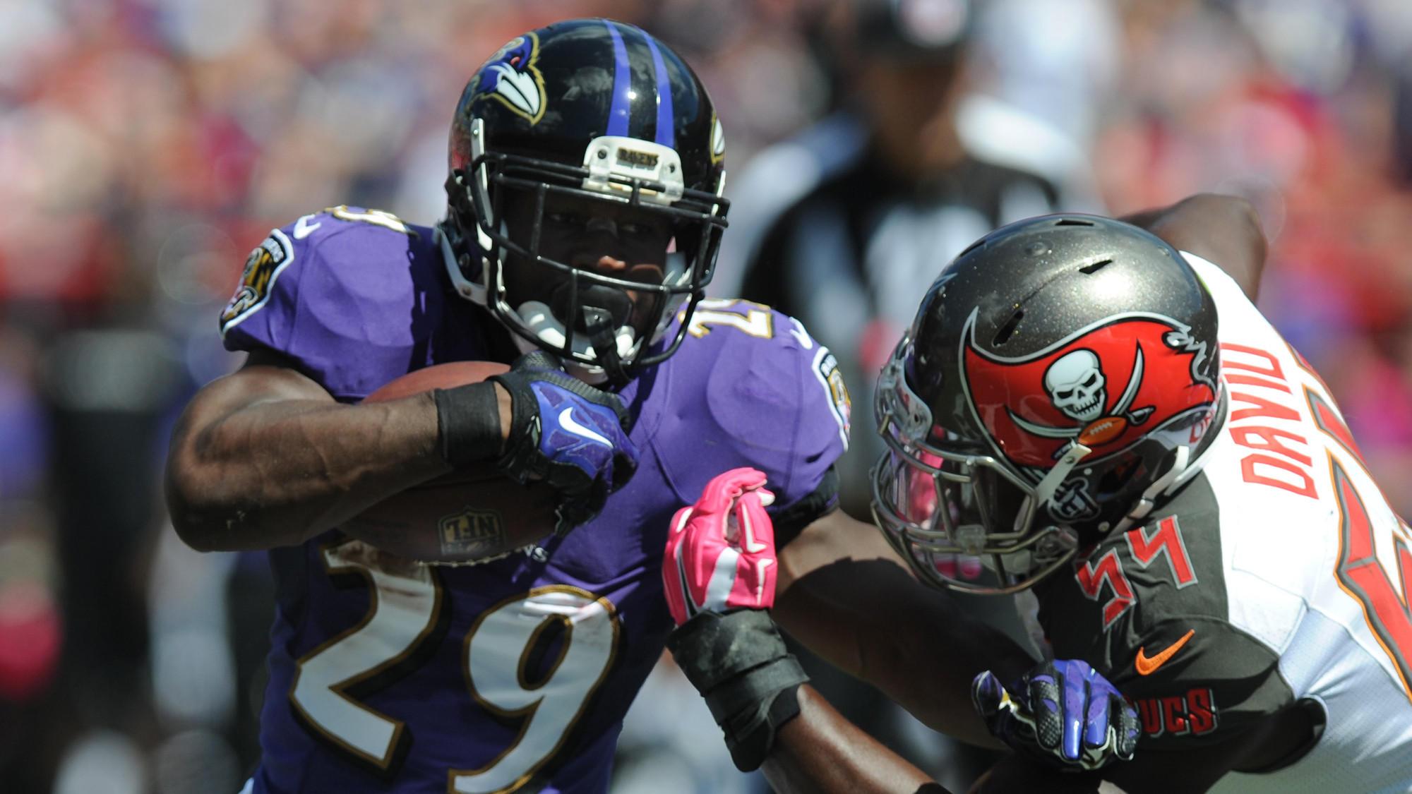 Ravens running back Justin Forsett.