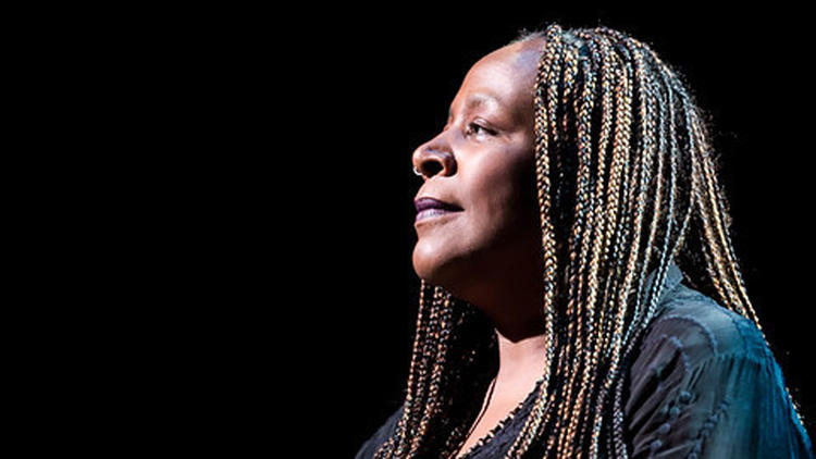 "Dael Orlandersmith in the world premiere of her play ""Forever"" at the KIrk Douglas Theatre"