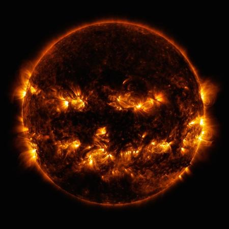 NASA jack-o-lantern sun
