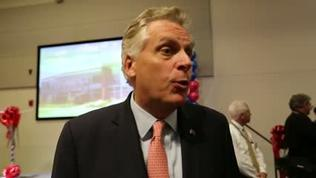 Gov. Terry McAuliffe talks about recruiting Canon | Video