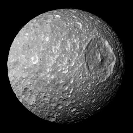 Mimas, Saturn's 'Death Star' moon