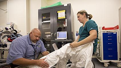 Video: Riverside prepares for Ebola patients