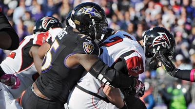 Ravens jump out to 20-point lead, soar to 29-7 win over Falcons