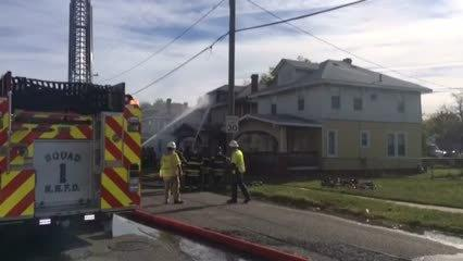 Video: Newport News abandoned residence fire