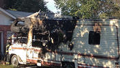 Video: Newport News camper fire