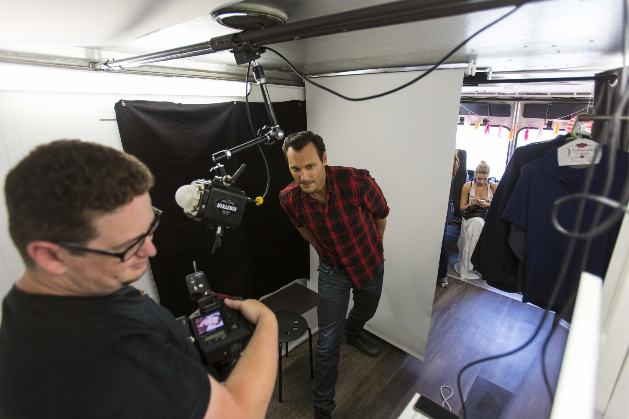Headshot Truck offers a photo studio for actors on the go