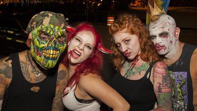 Zombie Walk in downtown Fort Lauderdale