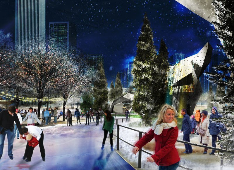 maggie daley park ice skating ribbon set to open this winter chicago tribune