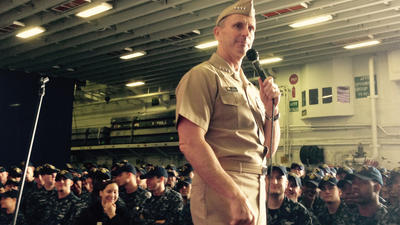 Navy's top admiral to Norfolk sailors: Long deployments are 'unsustainable'