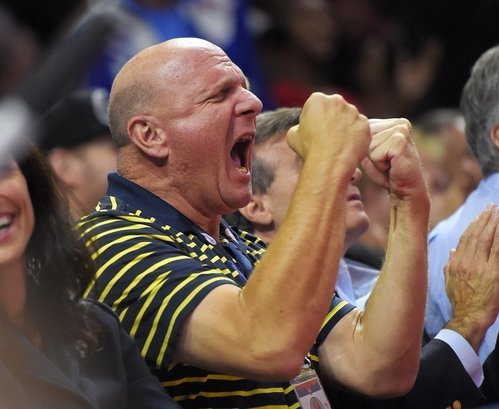 Steve Ballmer attends first Clippers home game — and boy is he loud