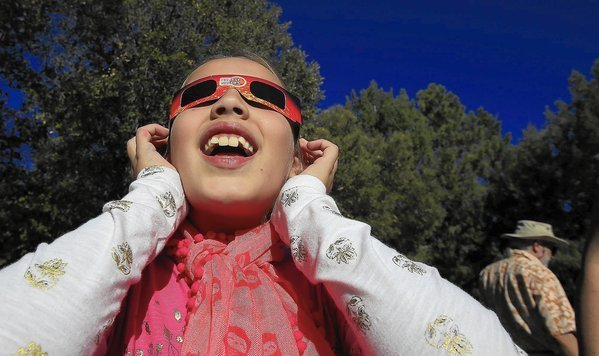 Solar eclipse brings observers to Mt. Wilson